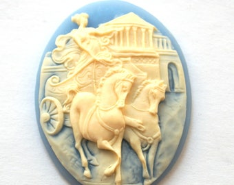 Cameo cabochon antique carriage (29x38mm)