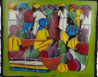 Haitian Acrylic Paintings on Canvas