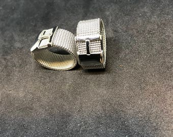 Braided stainless steel ring