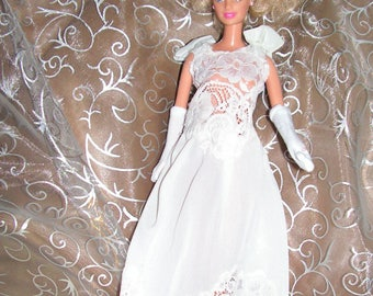 Lace dress and simple for Barbie