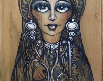 Azteca Women Triptych