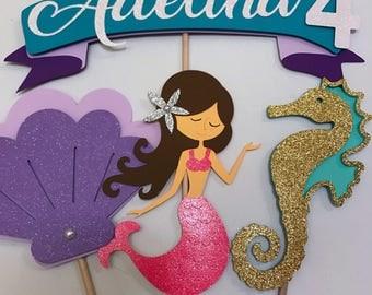 Mermaid Centerpiece/ Under the sea Decorations, Mermaid Birthday Party