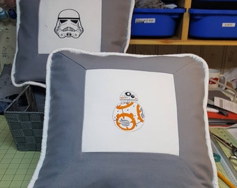 16x16 Embroidered Star Wars Pillow Cover with pillow insert