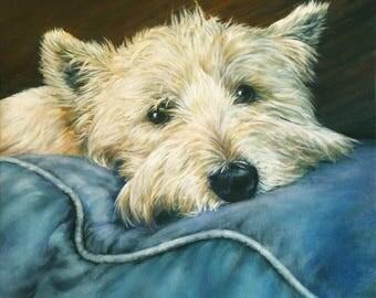 Custom pet portrait from photo
