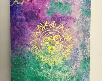 Acrylic on canvas Gold Mandala