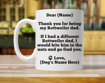 rottweiler gift, rottweiler gift for him, personalized rottweiler gift, rottweiler dad, custom rottweiler gift, rottweiler mug