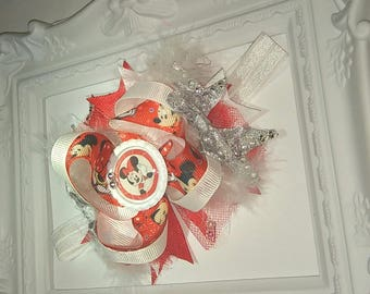 Minnie Mouse stacked bow headband