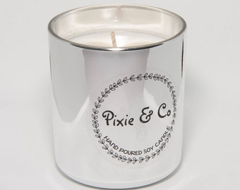 Scented Soy Candle - Silver Small
