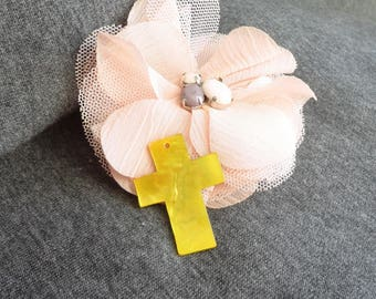woman, cross pendant cross pendant mother of Pearl, 4 cm, abalone shell cross, mother of pearl cross pendant
