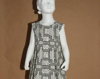 Pliou - Peruvian fabric girl off white and black tunic - 6 years