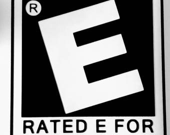 Your Mom Rated E For Everyone Vinyl Decal