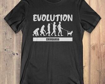 Chihuahua Custom Dog T-Shirt Gift: Chihuahua Evolution
