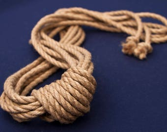 Natural Japanese 6mm jute rope for kinbaku and shibari.