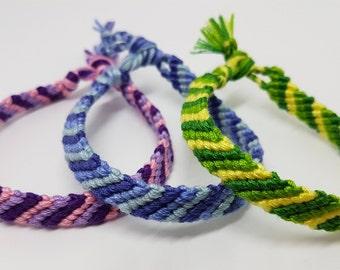 Striped friendship bracelets