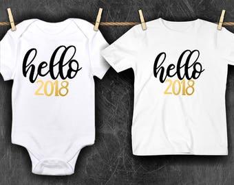 Hello 2018 Bodysuit/T-shirt