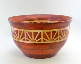 Segmented Wood Bowl Sun Rise Pattern # 126