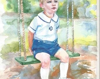 Baby Portrait Family portrait Child Portrait Custom Portrait Painting watercolor Painting Wedding Portrait From Photo Pet Portrait Original