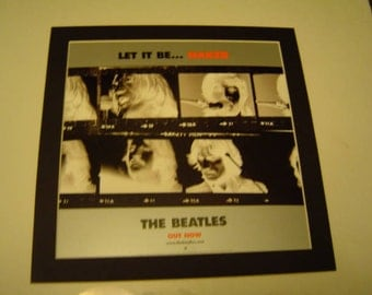 Beatles Let It Be  Original  Poster in A Custom Made Mount Ready To Frame