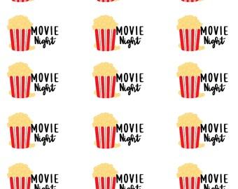 Movie Night- Planner Stickers