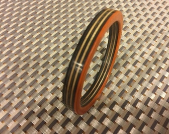 Recycled skateboard bangle