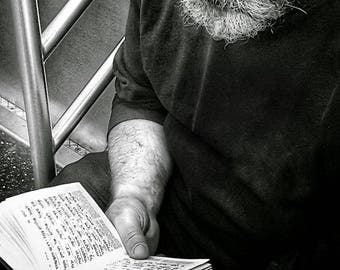 Jewish man on subway