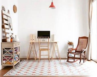 PVC floor Tile Hydraulic vinyl linoleum interior Design · Carpet Tiles Hidraulic Vintage decor Interior Design
