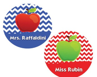 Personalized Teacher Apple Button - Lanyard Button - Teacher Button - Apple Pin - Teaching Button - Teacher Gift