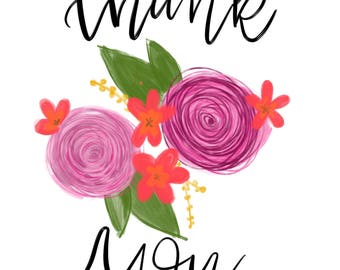 Thank You Card floral