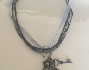Key Necklace in pewter color