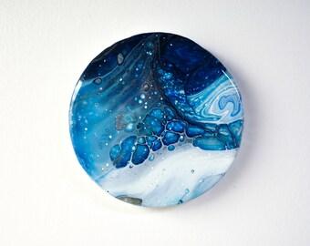 Blue Winter - Fluid Art