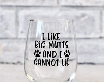 dog owner gifts, funny dog gifts, dog dad wine glass, dog mom wine glass, dog owner wine glass, rescue dog gifts, pet owner gifts