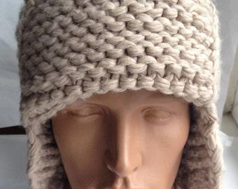 Stylish fashionable knitted hat