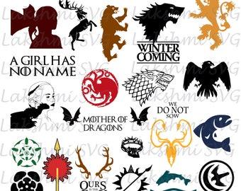 game of thrones svg,game of thrones clipart,dfx,eps, png,lannister,baratheon,targaryen,  khaleesi svg