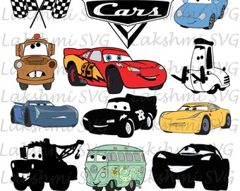 Cars Svg,movie Cars Svg Cut Files,cars silhouettes, Mate svg, Cars dxf, eps, png clip art for cricut, disney clipart, disney svg
