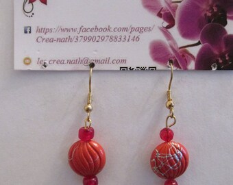 earring type O1 red candy