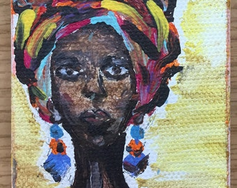 African woman with Headdress