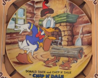 Set of 3 Walt Disney's ~ Donald Duck's 50th Birthday Plate Collection ~