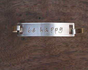 Be Happy Clipped Bangle
