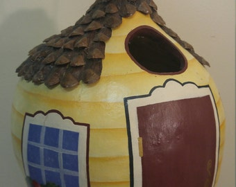 Handcrafted Kettle Gourd Birdhouse