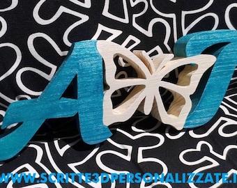Wooden initials.