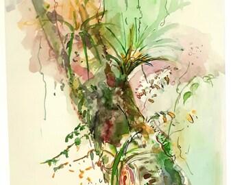 Jungle watercolour sketch