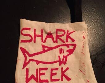 SHARK WEEK pouch