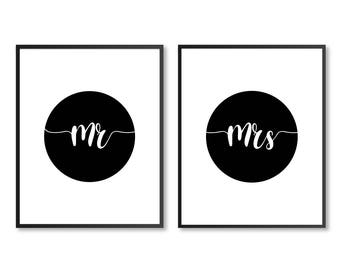 Mr And Mrs Print, Mr And Mrs, Mr & Mrs, Bedroom decor, Gifts for Newlyweds, Couples Decor, DIGITAL DOWNLOAD