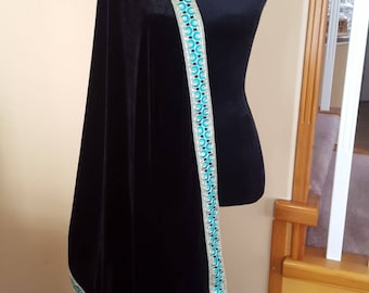Wedding shawl /Velvet Shawl / shawl with premium embroidered border. Available in different colors with different borders.
