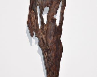 """Wall Sconce """"Shadow"""" wooden float Loire"""