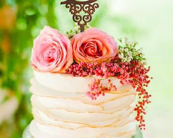 Letter B cake topper Custom Wedding Cake Topper gold monogram cake topper initial cake topper silver letter b cake topper cake topper letter
