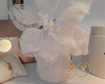 Star ring earrings