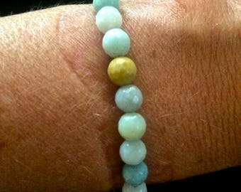 Breezys bracelets Faceted Amazonite