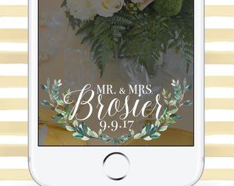 Custom Wedding Greenery SnapChat GeoFilter