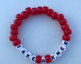 Take A Knee Bracelet, Bead Bracelet, Handmade, Take A Knee, Colin Kaepernick, Activist Support